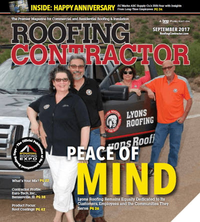 Lyons Roofing Features In Roofing Contractor Magazine
